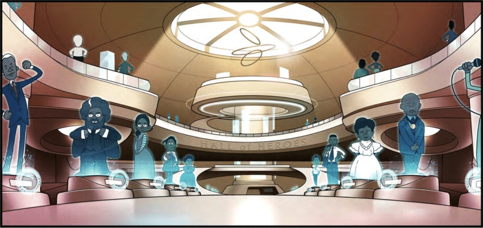 Concept art of the Hall of Heroes. (Photo courtesy of 'Our Heroes Rock' Kickstarter campaign)