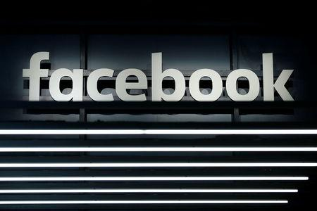 FILE PHOTO: A Facebook logo is pictured at the Frankfurt Motor Show (IAA) in Frankfurt