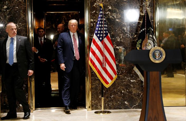 Donald Trump's re-election effort is headquartered in Trump Tower, much to the benefit of the president's purse. (Photo: Kevin Lamarque / Reuters)