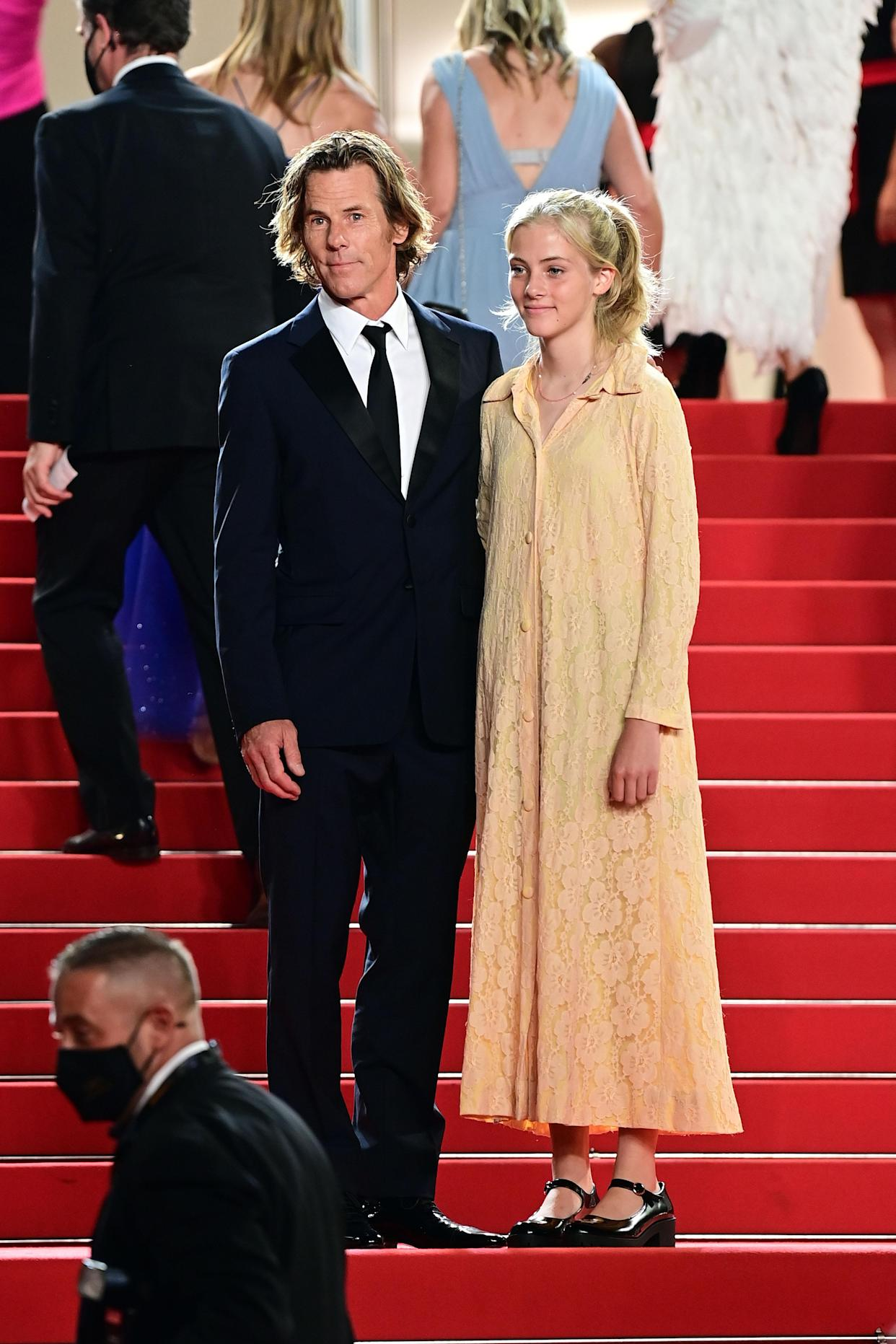 CANNES, FRANCE - JULY 10: Danny Moder and daughter Hazel Moder attends the