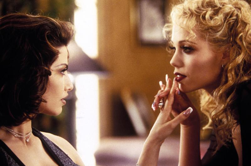 Gina Gershon and Berkley play nemeses who have a serious addiction to each other in 'Showgirls' (Photo: United Artists/ Courtesy: Everett Collection.)
