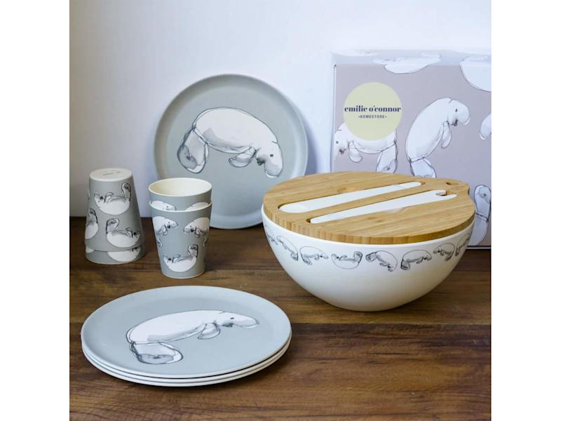 Dish up your next meal on these bamboo plates, cups and salad bowlWearth London
