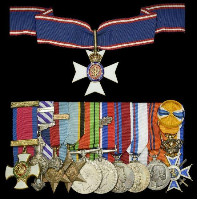 Peter Townsend's collection of medals sold for £260,000 (Dix Noonan Webb/PA).