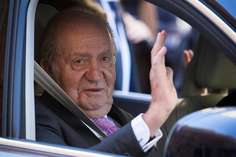 Former Spanish king Juan Carlos, pictured in April 2018, is under investigation in both Switzerland and Spain over illicit funds he allegedly received from Saudi Arabia
