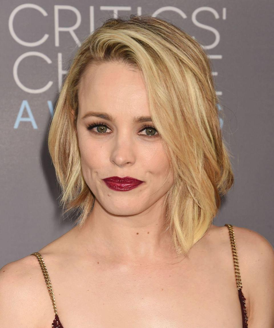<p>A multi-toned asymmetrical bob a la actress <strong>Rachel McAdams</strong> adds flattering dimension. Finishing with a side part and slight bit of texture emphasizes the effect.</p>