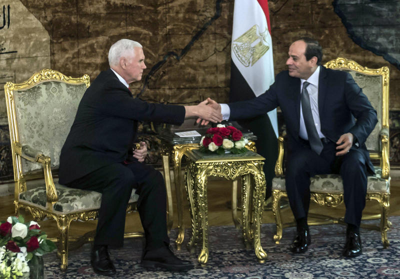 Mike Pence: U.S. Stands 'Shoulder to Shoulder' With Egypt in Fight Against Terror