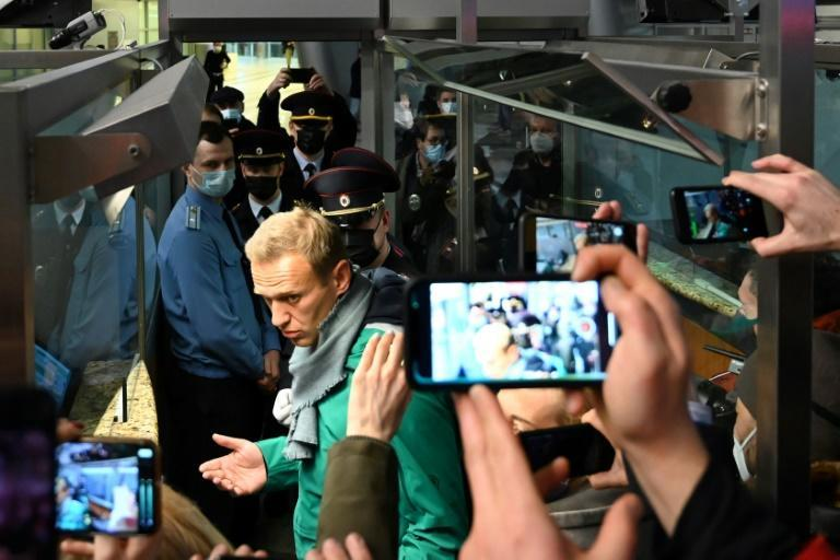Navalny has been in detention since landing in Moscow on Sunday