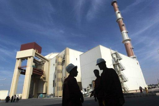 The reactor building at the Russian-built Bushehr nuclear power plant, 1200 kms south of Tehran, on October 26, 2010