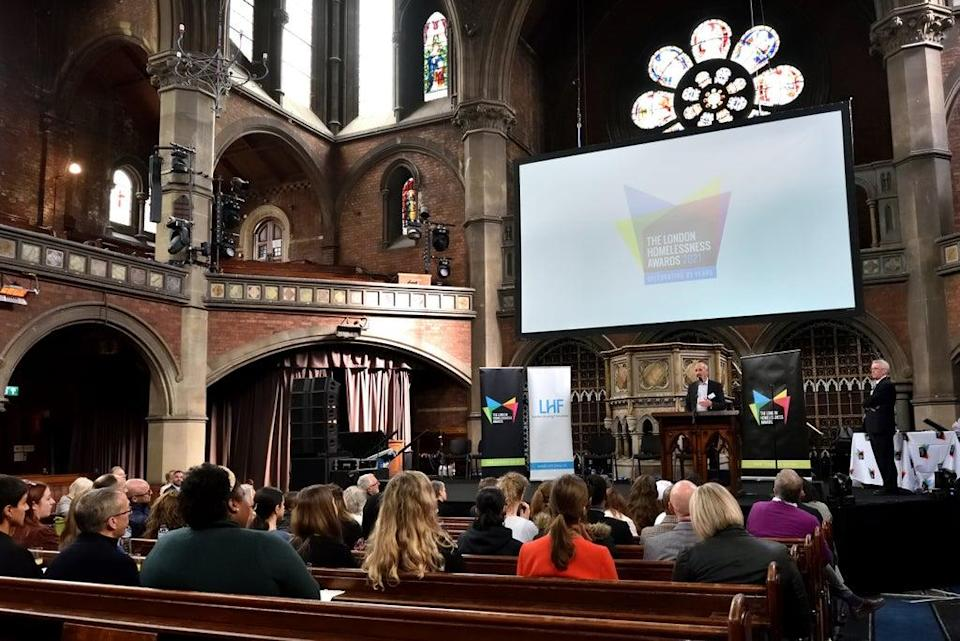 This year's Awards, in their 21st year, were held at Union Chapel in Islington (London Homelessness Awards / Jo Mieszkowski)