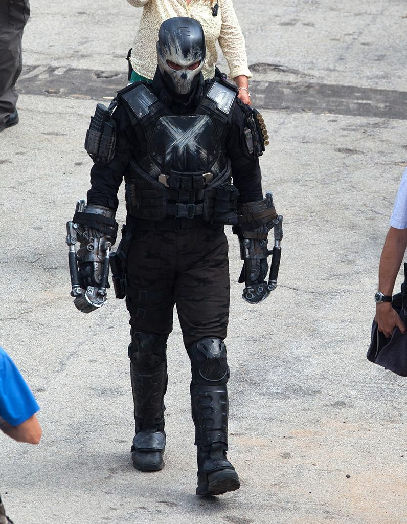 """In 'Winter Soldier,' Frank Grillo played lethal S.H.I.E.L.D. agent Brock Rumlow. Here is the first glimpse of him in the guise of Crossbones, a major Marvel villain who plays a key role in the events of 'Civil War.' On his Instagram, Grillo posted a pic of him in costume ominously captioned, """"I will find you. All of you."""""""