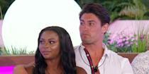 """<p><strong>Relationship status: <strong>Broken up / </strong>Mugged off</strong><br></p><p>Samira and Frankie were the first couple to split after 2018's series ended, with Samira releasing a statement about focusing on herself and 'future work opportunities'.</p><p>The statement came after footage of Frankie <a href=""""https://www.cosmopolitan.com/uk/entertainment/a22714612/love-island-samira-mighty-frankie-foster-split-up/"""" rel=""""nofollow noopener"""" target=""""_blank"""" data-ylk=""""slk:reportedly kissing another woman in a club"""" class=""""link rapid-noclick-resp"""">reportedly kissing another woman in a club</a> started doing the rounds, so that *might* have had something to do with it.</p>"""