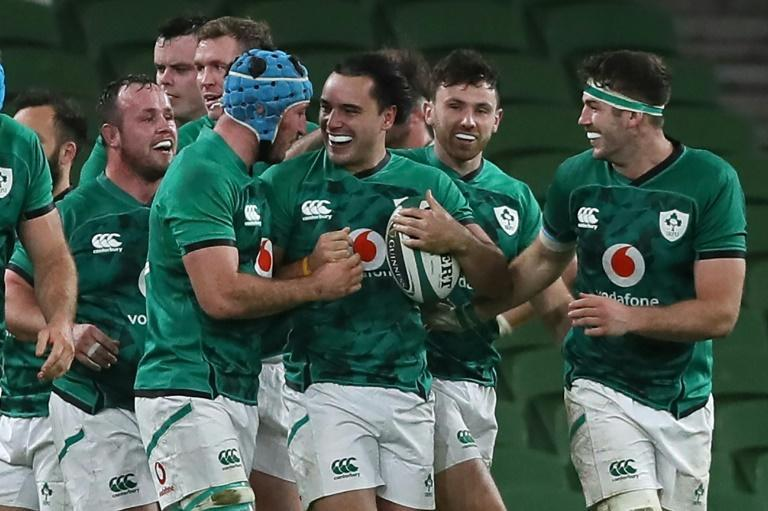 Ireland's New Zealand-born wing James Lowe crowned an impressive Test debut for Ireland with a try in their 32-9 hammering of Wales the losers sixth successive defeat