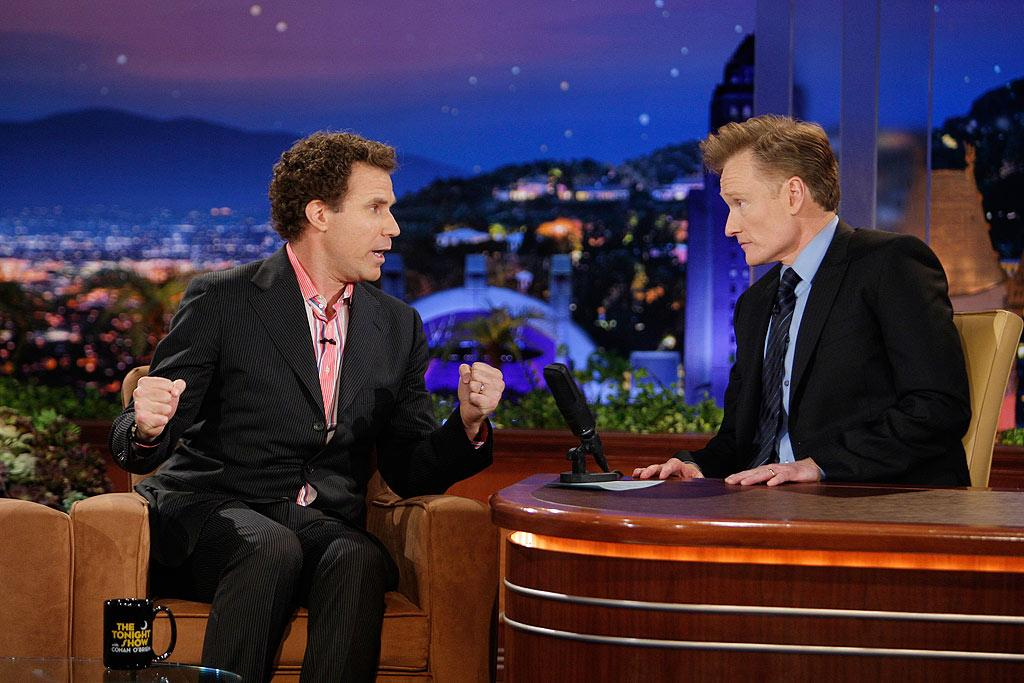 """Conan's very first guest, Will Ferrell, cracked the host up when he claimed Choco Taco was his CB radio handle. """"Forget Twitter, I'm on the CB!"""" he declared. Paul Drinkwater/NBC - June 1, 2009"""