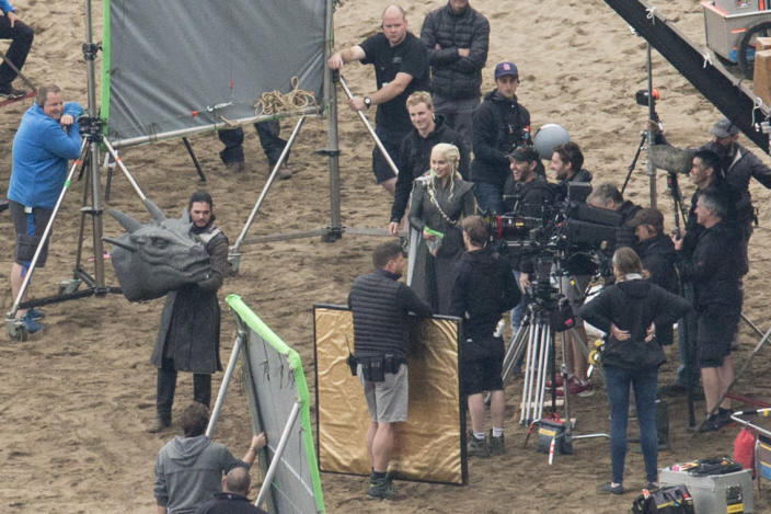 Game of Thrones Set Filming on October 27, 2016 in Zumaia