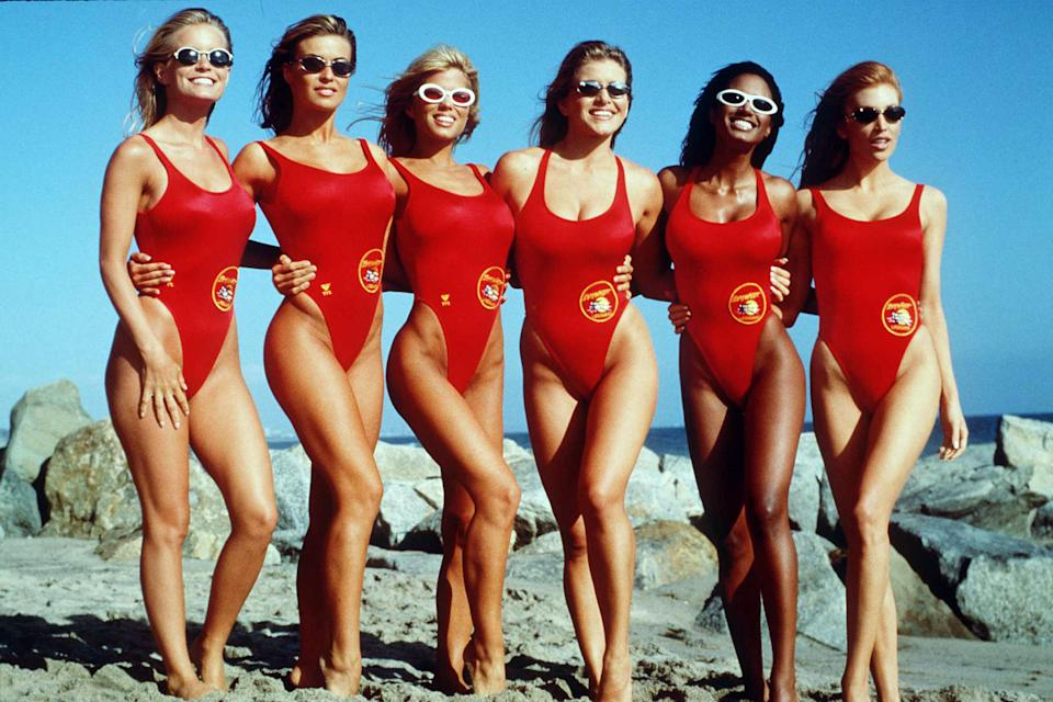 Kelly Packard, Carmen Electra, Donna D'Errico, Marliece Andrada, Traci Bingham, and Angelica Bridges