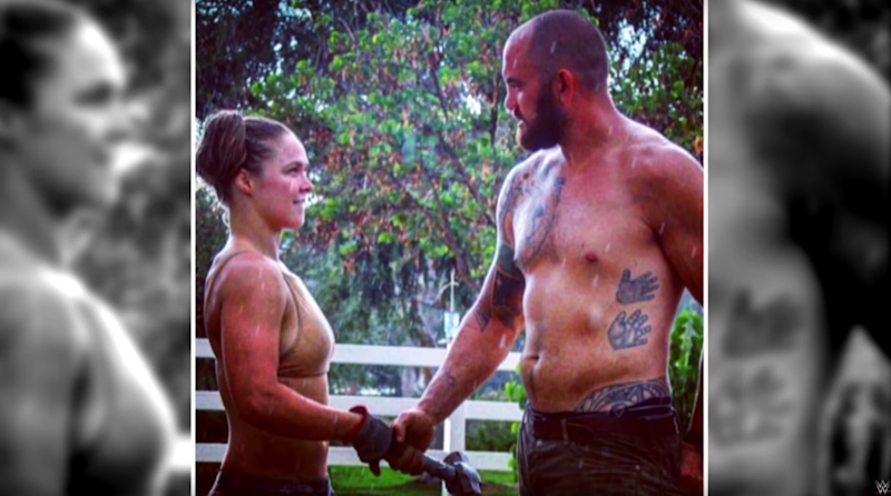 Rousey credits her husband Travis Browne for getting her back on her feet. Pic: WWE