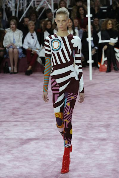 Raf Simons' tribute to Pop's most chamelon-like on the Christian Dior Spring/Summer 2015 runway, last September.