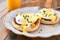 "<p>This classic is a surefire way to celebrate Mom.</p><p>Get the recipe from <a href=""https://www.delish.com/cooking/recipe-ideas/a26844972/eggs-benedict-recipe/"" rel=""nofollow noopener"" target=""_blank"" data-ylk=""slk:Delish"" class=""link rapid-noclick-resp"">Delish</a>.</p>"