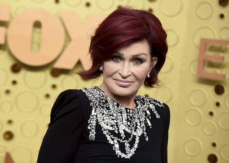 Sharon Osbourne arrives at the 71st Primetime Emmy Awards on Sunday, Sept. 22, 2019, at the Microsoft Theater in Los Angeles. (Photo by Jordan Strauss/Invision/AP)