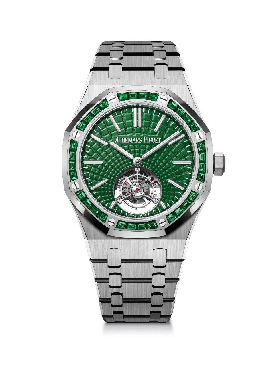 The Royal Oak set with emeralds for when a green dial isn't enough