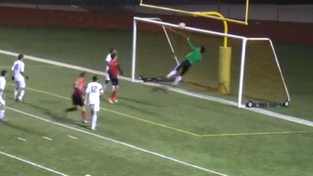High school goalie makes amazing series of saves