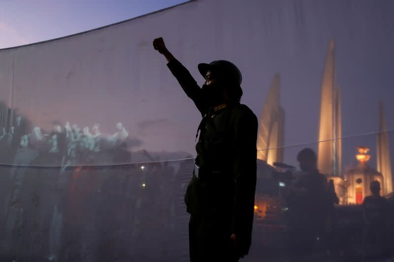 Thailand pro-democracy protesters mark end of absolute monarchy