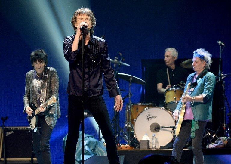 Rolling Stones singer Mick Jagger performs with his band at The Honda Center in Anaheim, California on May 15, 2013