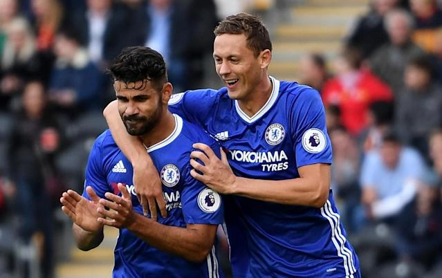 "<a class=""link rapid-noclick-resp"" href=""/soccer/players/diego-costa/"" data-ylk=""slk:Diego Costa"">Diego Costa</a> and <a class=""link rapid-noclick-resp"" href=""/soccer/players/nemanja-matic/"" data-ylk=""slk:Nemanja Matic"">Nemanja Matic</a>, both key parts of <a class=""link rapid-noclick-resp"" href=""/soccer/teams/chelsea/"" data-ylk=""slk:Chelsea"">Chelsea</a>'s 2016-17 Premier League title, are gone. (Getty)"