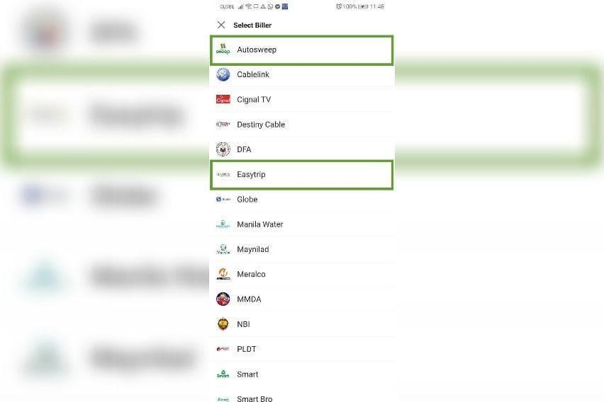 AutoSweep/Easytag in GrabPay feature