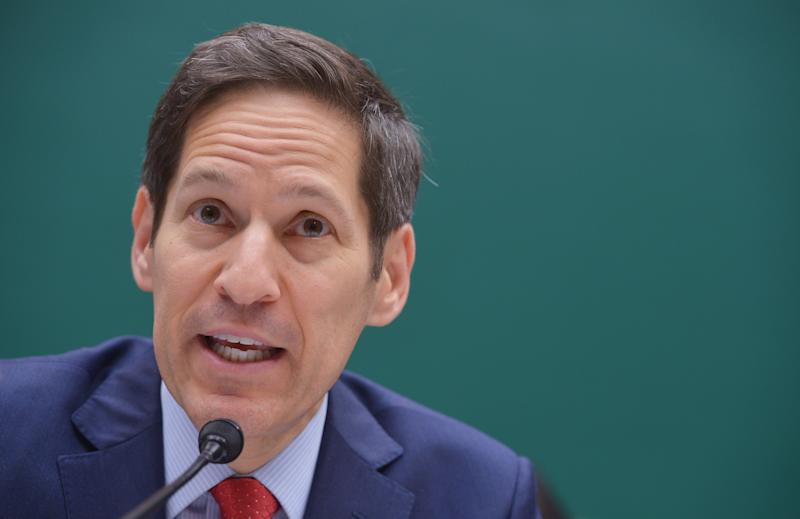 Center for Disease Control and Prevention Director Tom Frieden testifies before the House Energy and Commerce Committee - Oversight and Investigations Subcommittee on July 16, 2014 on Capitol Hill in Washington, DC (AFP Photo/Mandel Ngan)