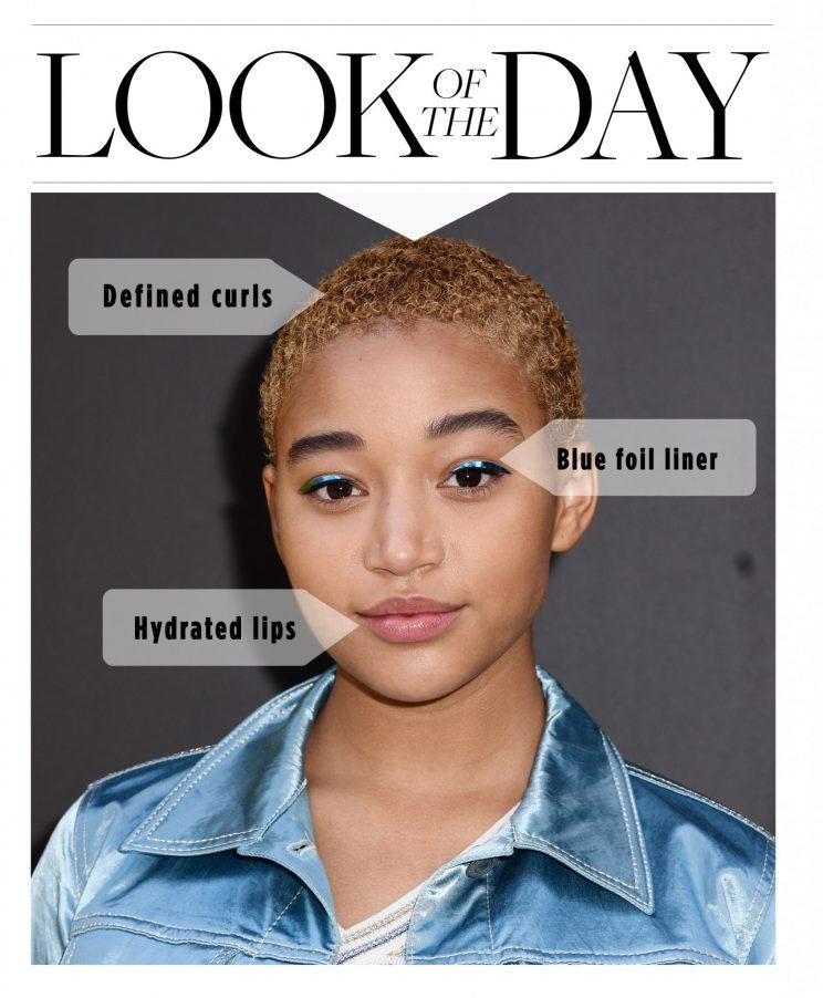Amandla Stenberg sat front row at Marc Jacobs. (Photo: Getty Images)