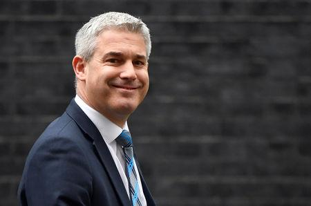 FILE PHOTO: Britain's Secretary of State for Exiting the European Union Stephen Barclay is seen outside of Downing Street in London, Britain, February 4, 2019.    REUTERS/Toby Melville