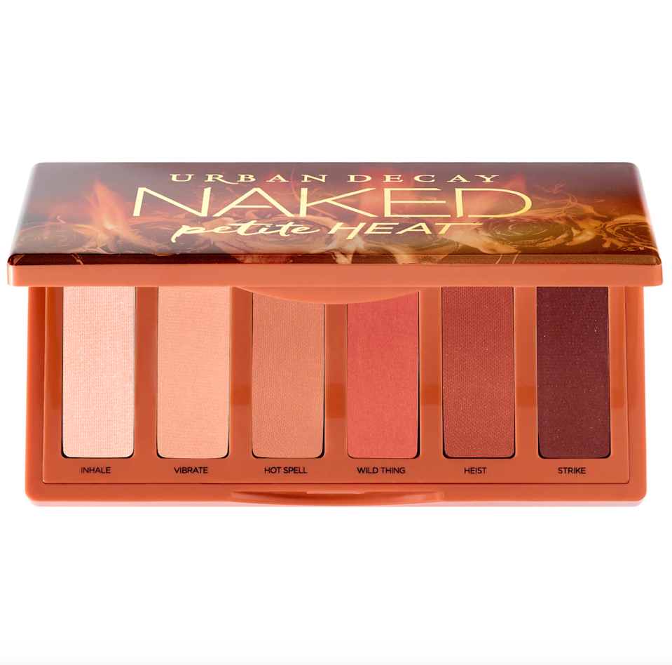 """<br><br><strong>Urban Decay</strong> Naked Petite Heat Eyeshadow Palette, $, available at <a href=""""https://go.skimresources.com/?id=30283X879131&url=https%3A%2F%2Ffave.co%2F3p0krOp"""" rel=""""nofollow noopener"""" target=""""_blank"""" data-ylk=""""slk:Sephora"""" class=""""link rapid-noclick-resp"""">Sephora</a>"""