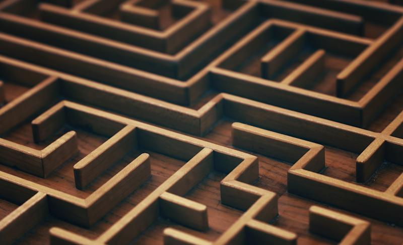 Full Frame Shot Of Wooden Maze