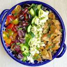 """<p>Weekdays are best with this fab fattoush-inspired salad.</p><p>Get the recipe from <a href=""""https://www.delish.com/cooking/recipe-ideas/recipes/a43422/mediterranean-salad-with-lemon-herb-vinaigrette-recipe/"""" rel=""""nofollow noopener"""" target=""""_blank"""" data-ylk=""""slk:Delish"""" class=""""link rapid-noclick-resp"""">Delish</a>.</p>"""