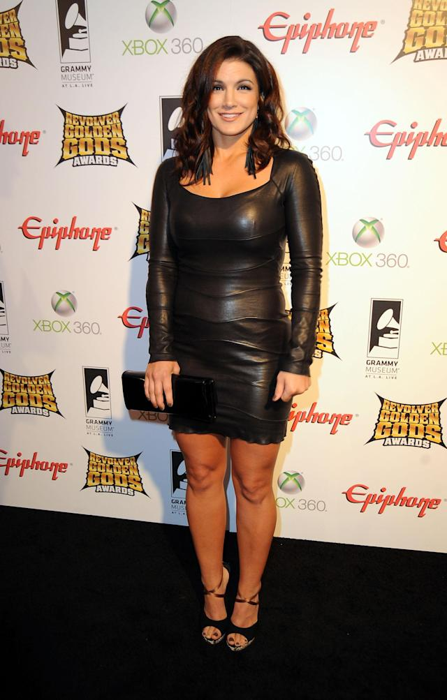 LOS ANGELES, CA - APRIL 11: Actress/sportswomen Gina Carano arrives at the 2012 Revolver Golden Gods Award Show at Club Nokia on April 11, 2012 in Los Angeles, California. (Photo by Frazer Harrison/Getty Images)