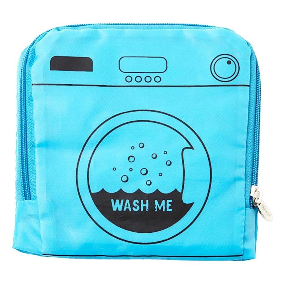 <p>I don't like to mix my clean and dirty clothes while traveling, and this <span>Miamica Wash Me Travel Laundry Bag</span> ($12) is the perfect way to keep it all organized. Plus, it makes it so easy to unpack when I get home, all I do is throw my dirty laundry in the wash and I'm done.</p>