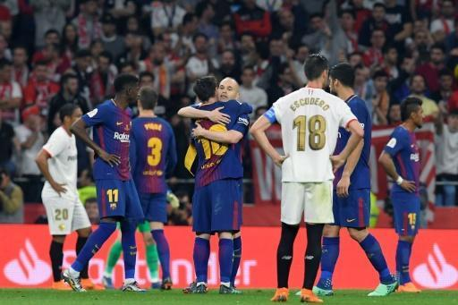<p>Barca hammer Sevilla to win 30th Copa del Rey</p>