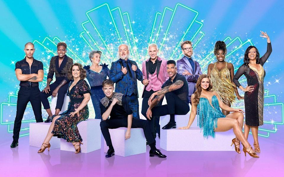 Celebrity dancers Max George, Nicola Adams, Jacqui Smith, Caroline Quentin, HRVY, Bill Bailey, Jamie Laing, Jason Bell, JJ Chalmers, Maisie Smith, Clara Amfo, Ranvir Singh before the launch show for this year's BBC1's dancing contest, Strictly Come Dancing.  - Guy Levy/BBC/PA