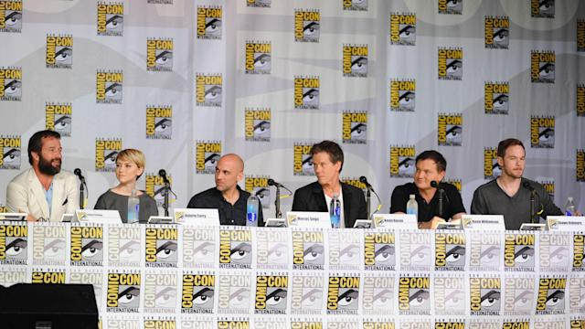 "Cast and executive producers during ""The Following"" panel on Friday, July 19 during Fox Fanfare At San Diego Comic-Con 2013."