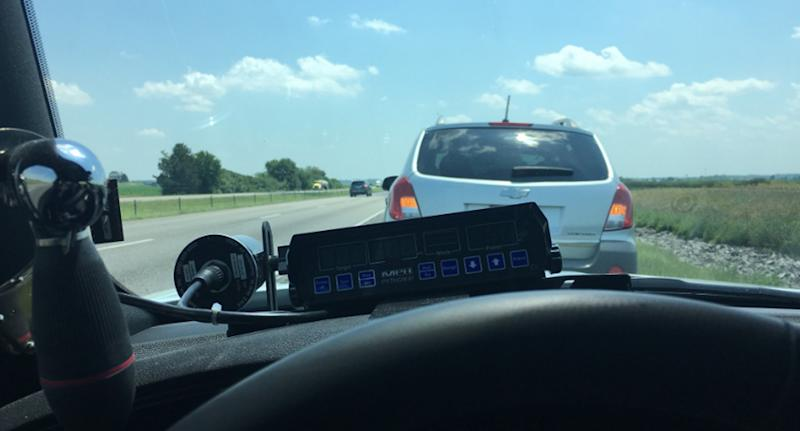 IN  trooper wins praise for stopping too slow driver