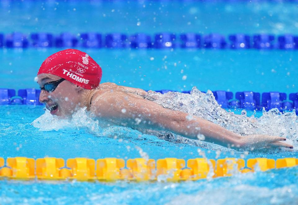 Alys Thomas was outside the medal positions in the women's 200m butterfly (Adam Davy/PA) (PA Wire)