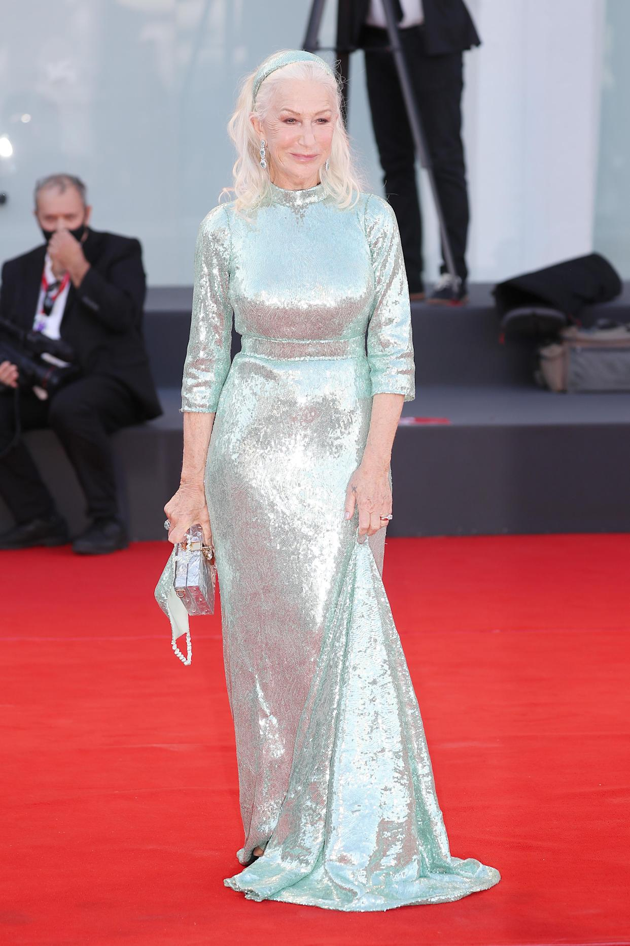Helen Mirren attends the red carpet of the movie 'Madres Paralelas' on September 01, 2021. (Getty)