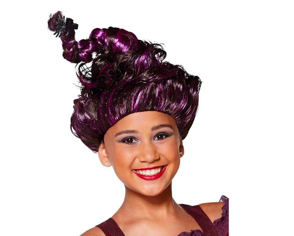 <p>Instead of twisting your kid's hair up in a complicated braid, try this purple and black <span><strong>Hocus Pocus</strong> Tween Mary Sanderson Wig</span> ($17, currently sold out). It's the perfect complement to any Mary Sanderson costume. Though it only comes in one size, it should fit most kids. </p>