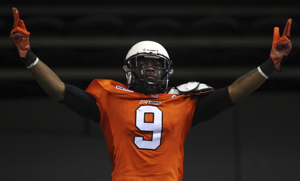 Former B.C. receiver Ernest Jackson (who's now with Ottawa) is one of the biggest free-agent signings in the East Division. (Ben Nelms/Reuters.)