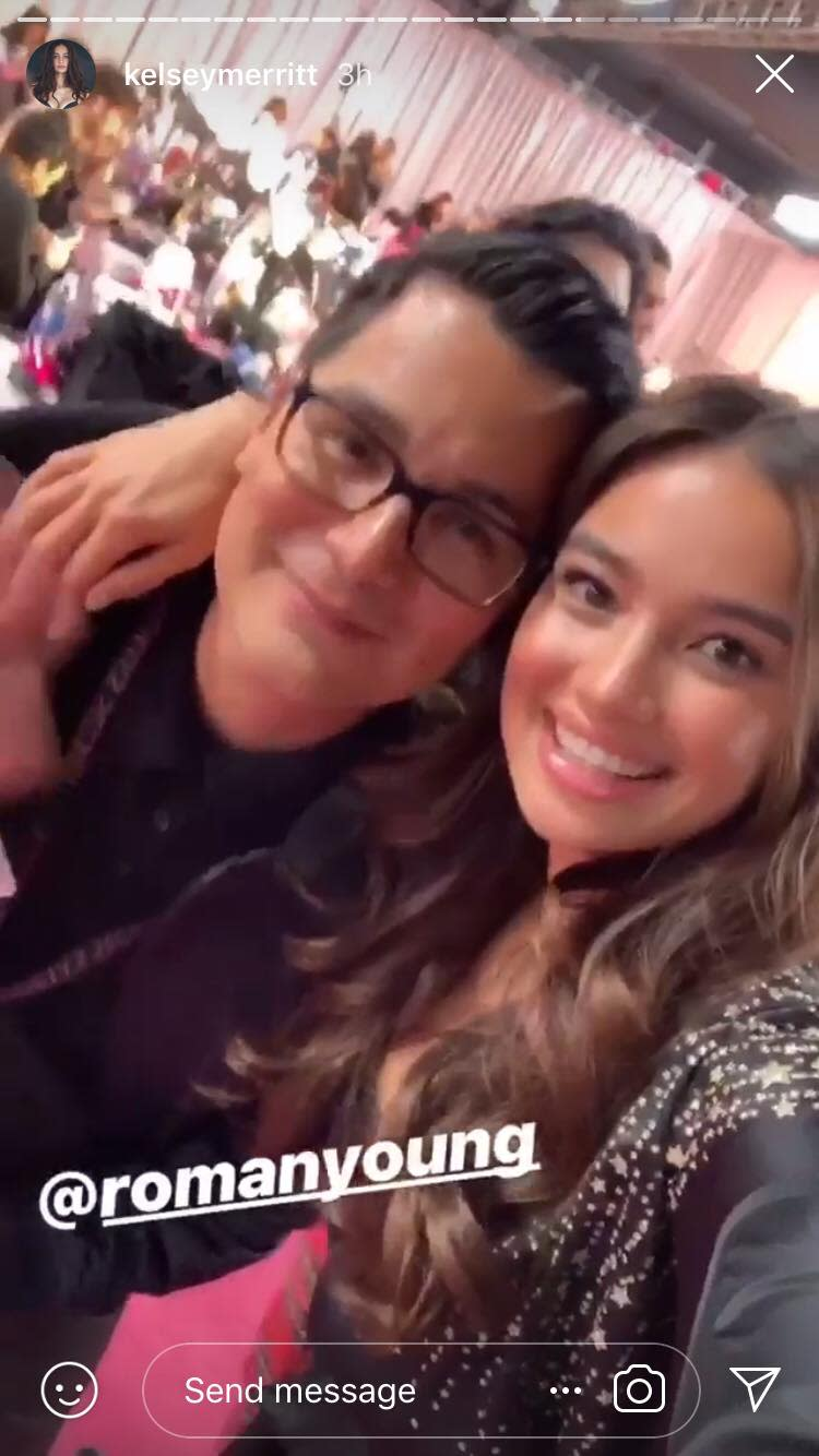 Kelsey Merritt with Roman Young. (Photo: @kelseymerritt Instagram)
