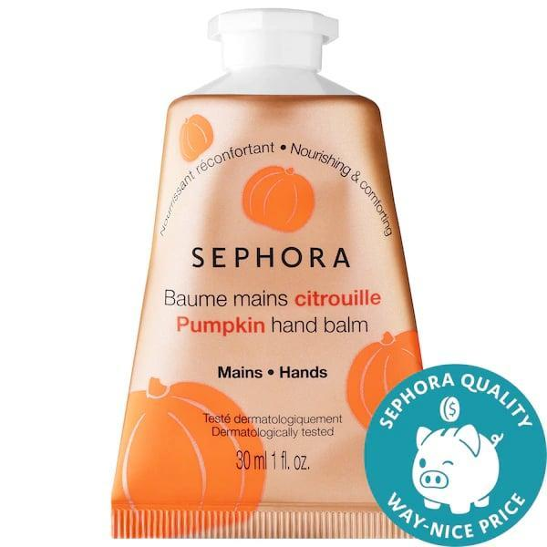 <p>This fall, switching up your hand cream for the <span>Sephora Collection Pumpkin Hand Balm</span> ($5) adds the vitamin-rich fruit and a touch of shea butter, too.</p>