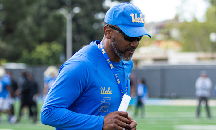 UCLA's Brian Norwood, shown in March, was co-defensive coordinator during previous stops at Navy, Kansas State and Tulsa.