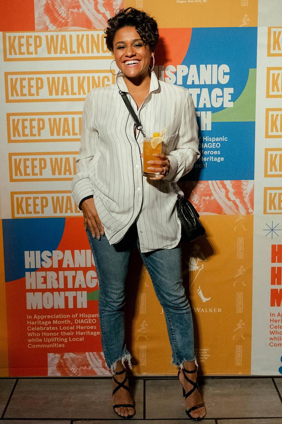 <p>Ariana DeBose toasts to Hispanic Heritage Month with DIAGEO and Johnnie Walker to celebrate Latinas in food and art on Oct. 7 in The Bronx, New York.</p>