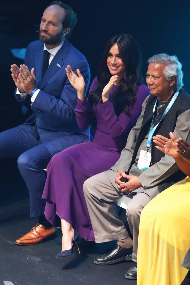 The Duchess of Sussex attends the opening ceremony of the One Young World summit at the Royal Albert Hall